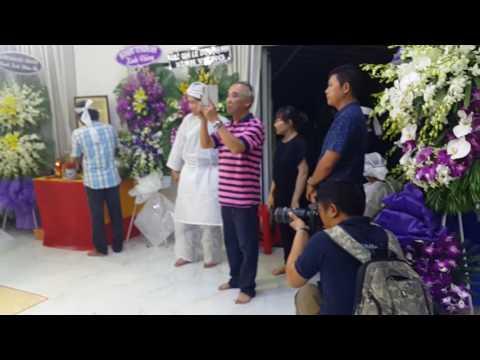 Đám tang NSUT Thanh Sang, NSND Bạch Tuyết đến viếng, Sài Gòn tối 21.4.2017(3)