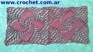Unión Del Motivo N° 8 En Tejido Crochet Tutorial Paso A