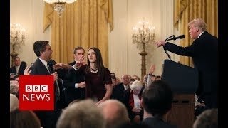 Trump to reporter: 'You are a terrible person' - BBC News