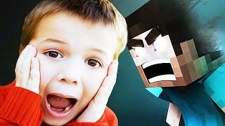 Minecraft Trolling: CRAZY 7 YEAR OLD TROLLED BY HEROBRINE