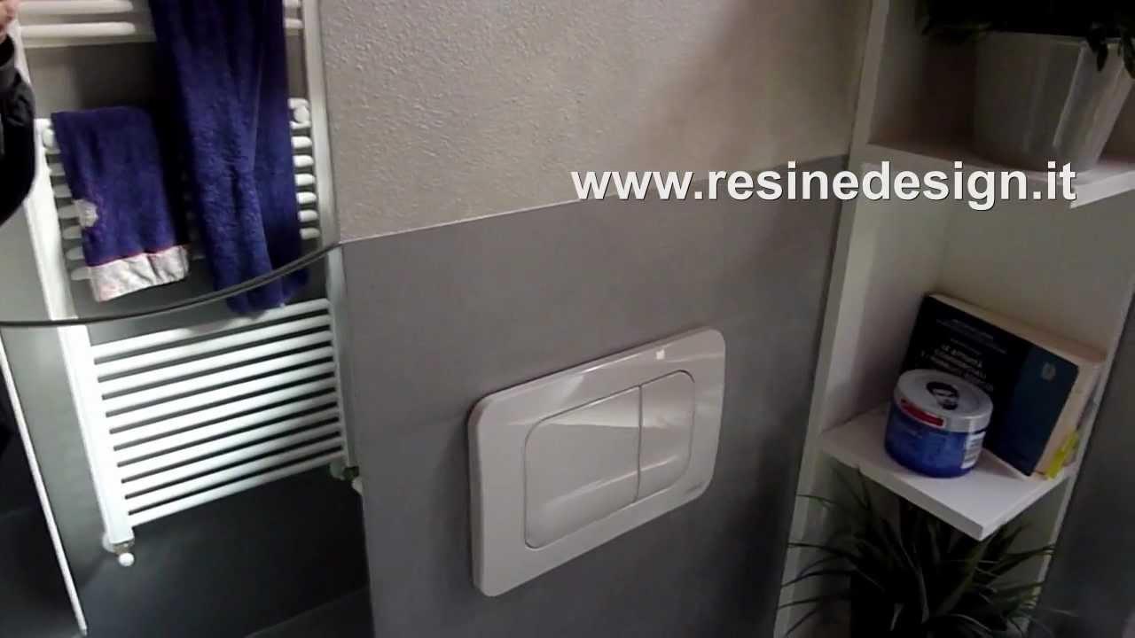 Bagno resina argento pavimento e rivestimento youtube - Rivestimento resina bagno ...