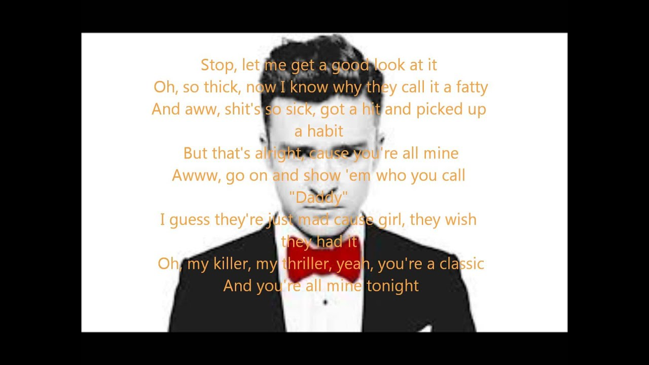 maxresdefault jpgJustin Timberlake Suit And Tie Lyrics