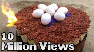 EXPERIMENT 20000 MATCHES VS EGG – The Most Satisfying Video – Amazing Crazy Experiment
