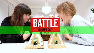 Vlogmas Day 1 | Gingerbread House Battle With Taryneitupvlogs!