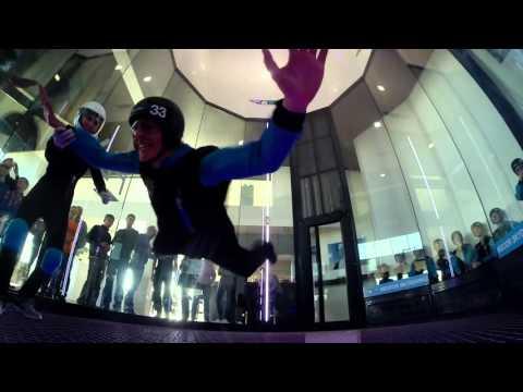 Indoor Skydiving Charleroi Beginner flights all participants gropro