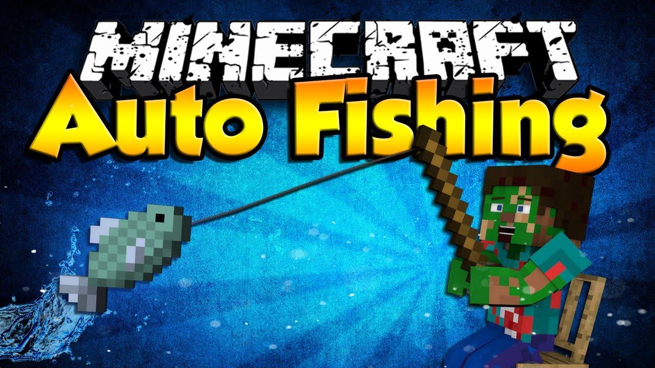 minecraft автоматическая рыбалка