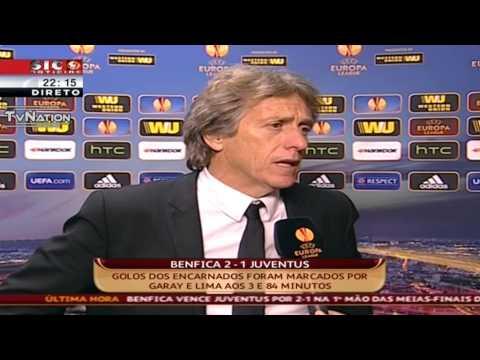 Jorge Jesus Flash Interview Benfica 2 Vs 1 Juventus Liga Europa 2014