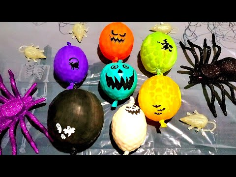 FUNNY SPOOKY HALLOWEEN ORBEEZ STRESS BALL BALLOONS POP!!!