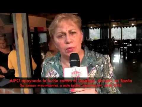 AIPO apoyando la lucha contra el desalojo abrupto en Tazón, aporrea tvi, abril 2015