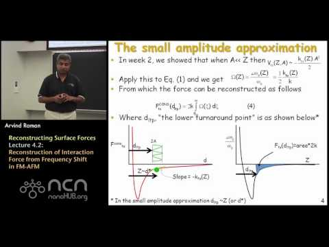 nanoHUB-U Fundamentals of AFM L4.2: Reconstructing Surface Forces - Frequency Shift in FM-AFM