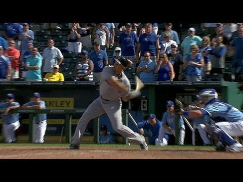 SEA@KC: Ibanez hits game-tying shot on final strike