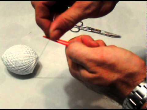 Enhebrado de aguja de coser redes, Pompon (4/9)