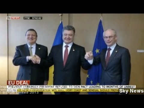 Ukraine's EU Pact Brings Russian Warning, 'Nazi' Accusations