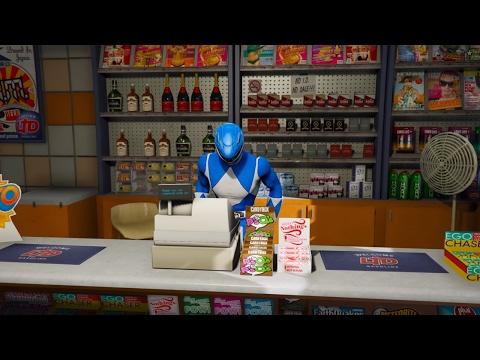 GTA 5 - 5 anh em siêu nhân Gao đi cướp tiệm tạp hóa ven đường | ND Gaming
