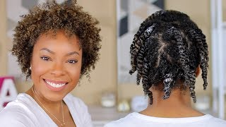*VERY DETAILED* TWIST OUT TUTORIAL FOR SHORT NATURAL HAIR | MOSITURIZED & DEFINED TYPE 4 CURLS!