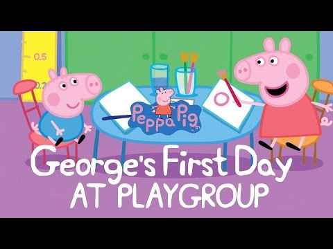Peppa Pig Story - George's First Day At Playgroup