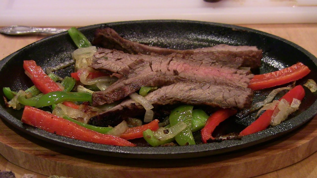 Sizzling Steak Fajitas - Tex-Mex Style - YouTube