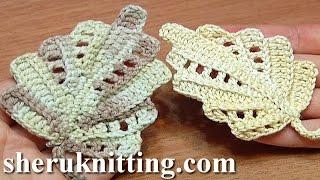 Crochet Leaf Work In Back Loops Tutorial 22 Part 1 Of 2