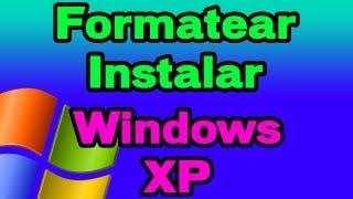 Formatear E Instalar Windows XP SP3 + Copia De Drivers
