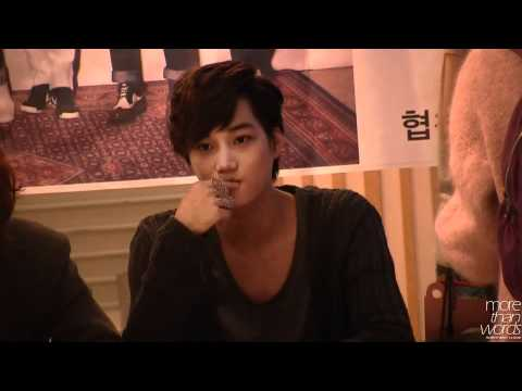 120425 EXO-K YP Bookstore fansign Kai fancam - Jonginnie!, cr: morethanwords Please DO NOT EDIT, TAKE WITH FULL CREDITS http://jm105.tumblr.com/