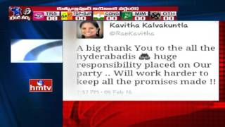 MP Kavitha Tweets on TRS Victory in GHMC Elections