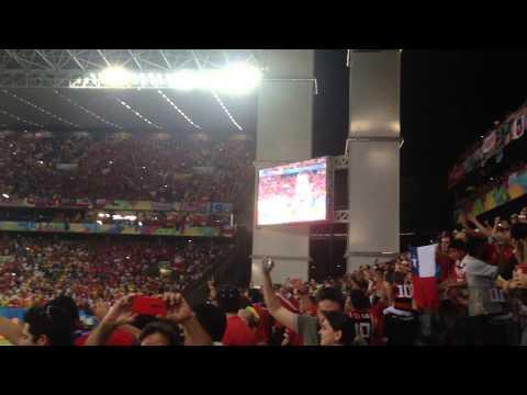 Himno de Chile en el partido Chile 3 Australia 1
