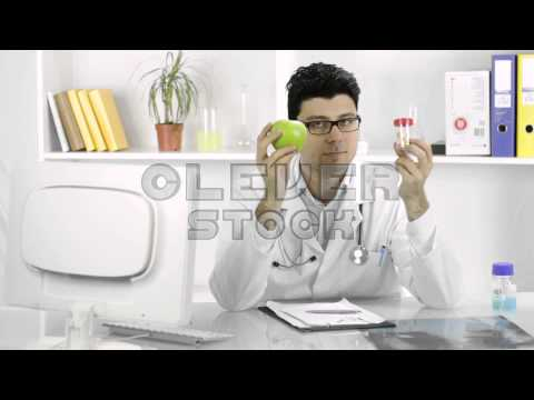 Choosing Pills Over Healthy Alternative Fruit Apple Young Doctor
