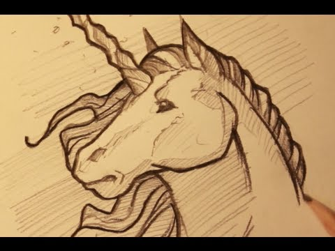 Draw a Unicorn, Sketching a Unicorn Horse, Step by Step ...
