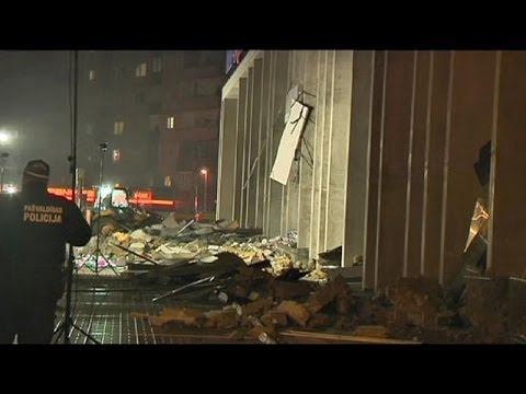 Twelve dead and dozens feared trapped after Latvian supermarket roof collapse
