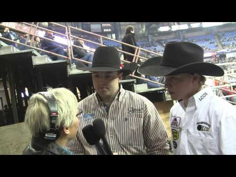 Kolton Schmidt and Tyrel Flewelling win round two of #CFR40 in the Team Roping