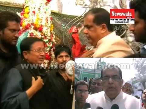 Minority Chairman Abid Rasool Khan visited Bibi Ka Alawa during Muharram 2013