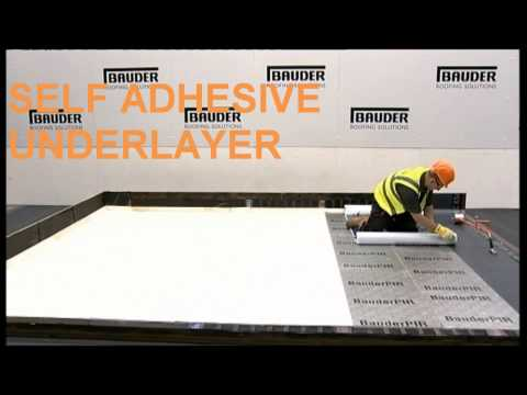 Bauder - membrana bitumiczna samoprzylepna montaż na płaskim dachu