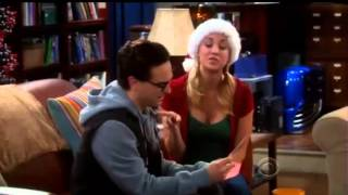 The Big Bang Theory (bloopers)- Penny's Christmas Gift