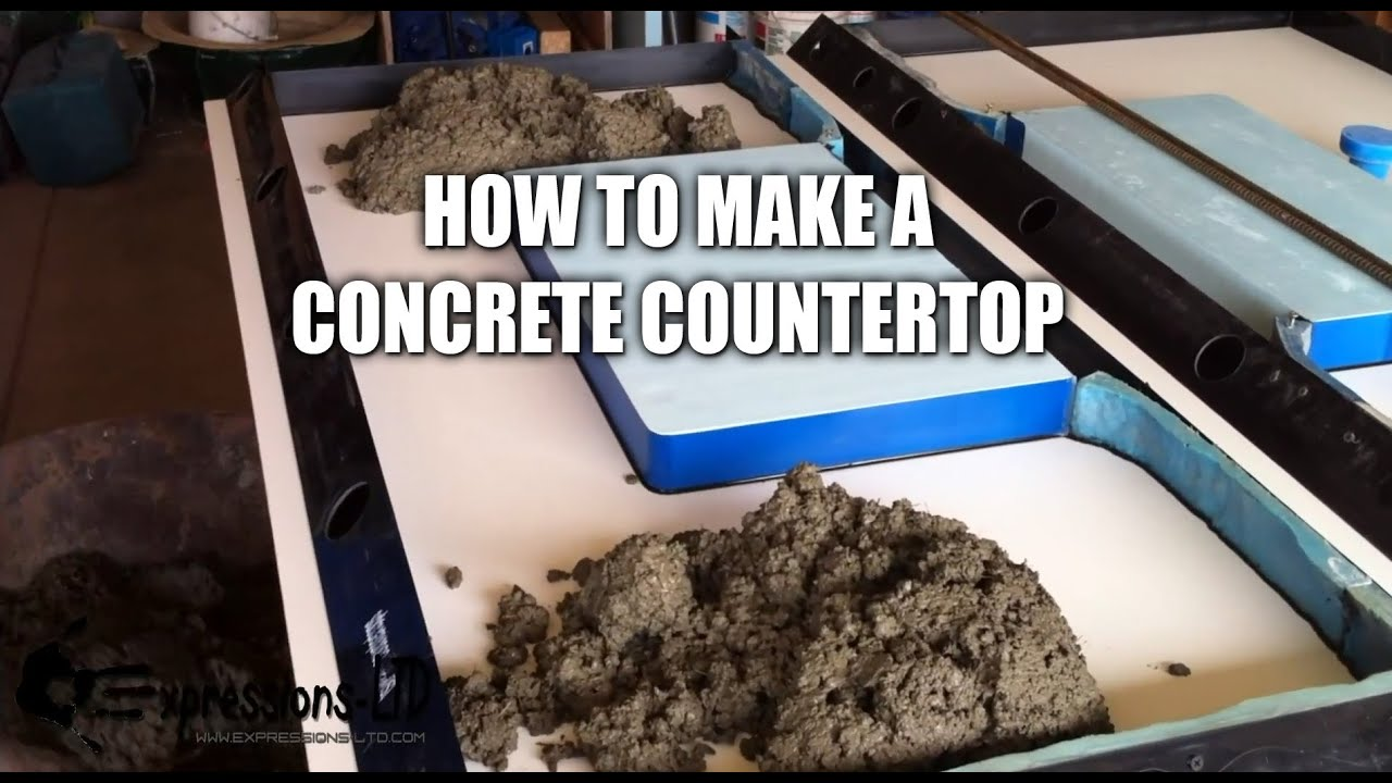 Making A Concrete Countertop With Sink Complete Steps