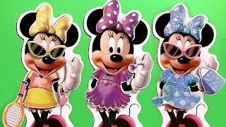 Minnie Mouse Bowtique Wooden Magnetic Dress-up Doll Mix