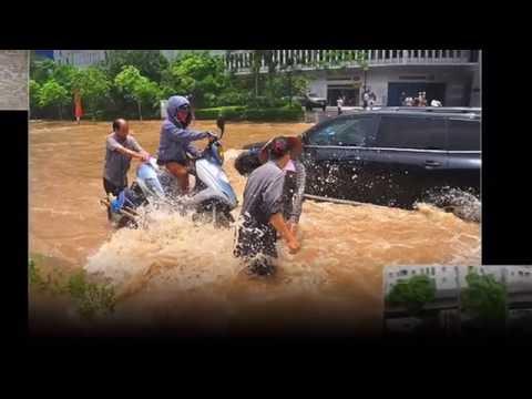 Hà Nội ngập lụt sau trận mưa lớn | Lụt từ ngã tư đường phố - Nhạc chế hay nhất