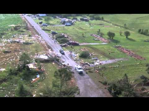 Alabama tornado damage aerials