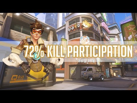 Overwatch - Kabaji Tracer 72% Kill Participation