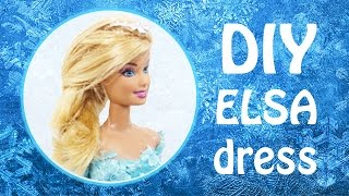 Disney Frozen Elsa | How to Make Frozen Elsa Doll's Dress for Barbie Doll