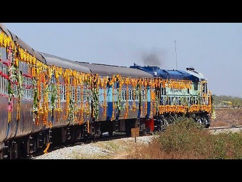 DECORATED BANGALORE NAGERCOIL EXPRESS INAUGURAL RUN 17235 /17236