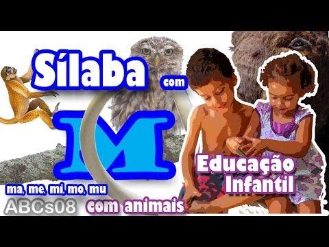 Alfabetização Infantil Silábica [ABCs08_M] - Sílaba M - Animais - Método de Alfabetização Silábica