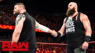 Kevin Owens attempts to befriend Braun Strowman: Raw, June 18, 2018