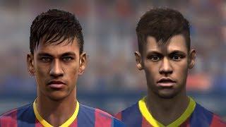 FIFA 14 V PES 14 Faces Head To Head [HD] Part 1