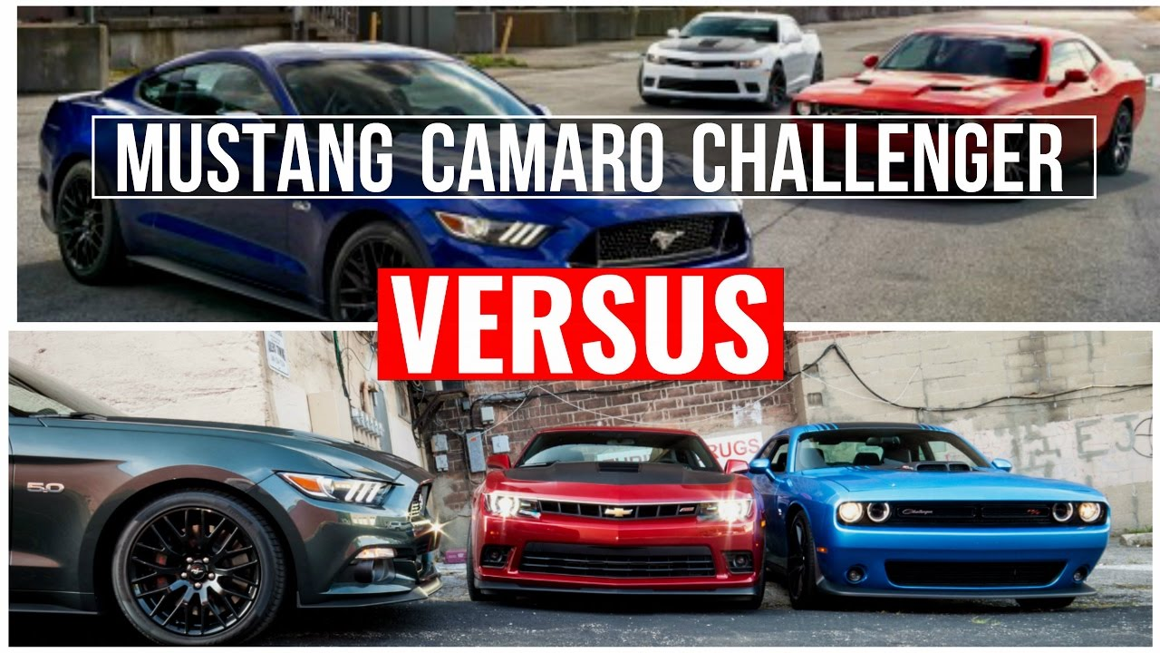 2015 camaro vs challenger vs mustang visual comparison youtube. Cars Review. Best American Auto & Cars Review