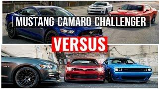 2015 Camaro VS Challenger VS Mustang| Visual Comparison