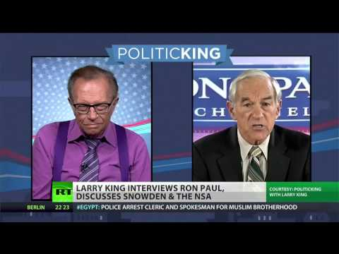 Ron Paul supports Snowden and Manning in Larry King interview