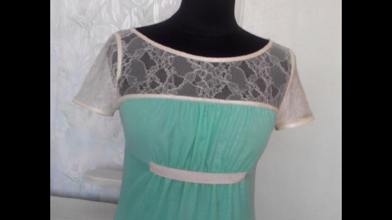 Платье из шифона и гипюра сшить