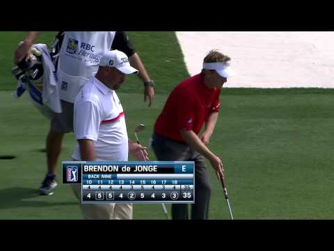 Brendon de Jonge's textbook bump-and-run at RBC Heritage