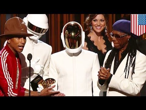 Thumbnail of video Muy fan de Daft Punk?  Daft Punk---wins five Grammys with Pharrell Williams for Get Lucky