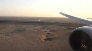 Etihad Airways Boeing 777-300ER Landing Window View